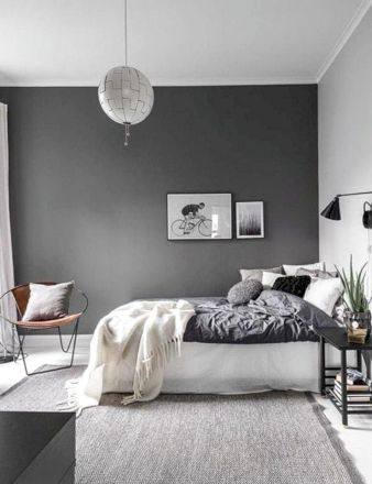 Unique white minimalist master bedroom design ideas 35