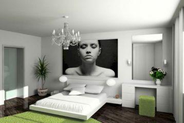 Unique white minimalist master bedroom design ideas 48