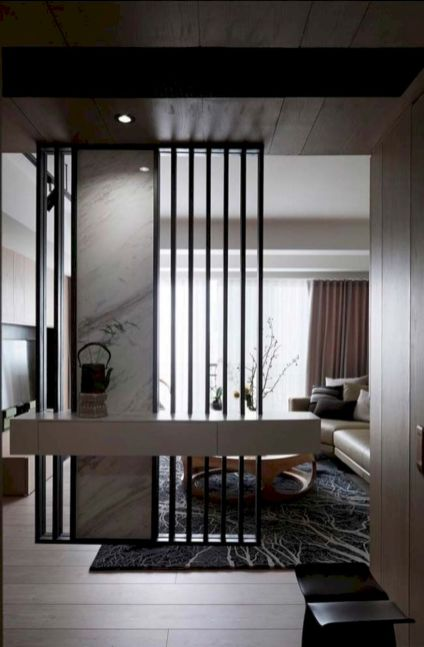 Astonishing partition design ideas for living room 12