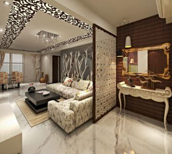 Astonishing partition design ideas for living room 14
