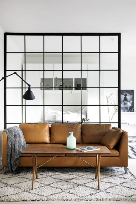 Astonishing partition design ideas for living room 20