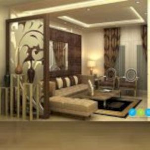 Astonishing partition design ideas for living room 52