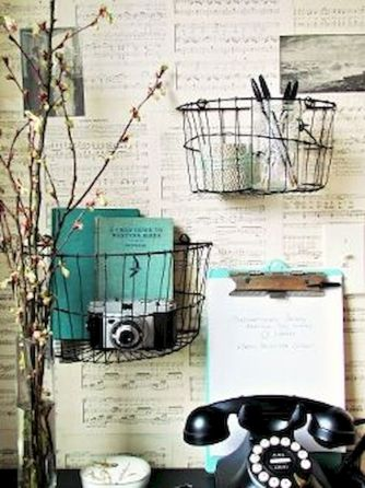 Best ideas to reuse old wire baskets 05