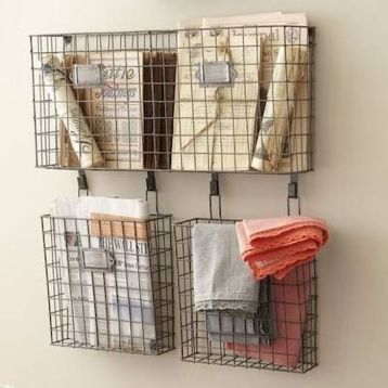 Best ideas to reuse old wire baskets 43