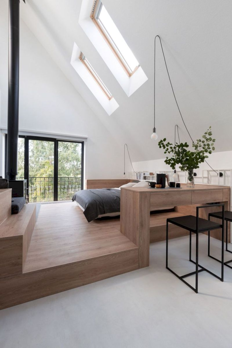 Charming bedroom design ideas in the attic 22