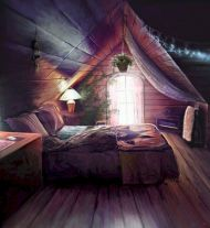 Charming bedroom design ideas in the attic 25