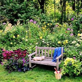 Charming flower beds ideas for shady yards 10