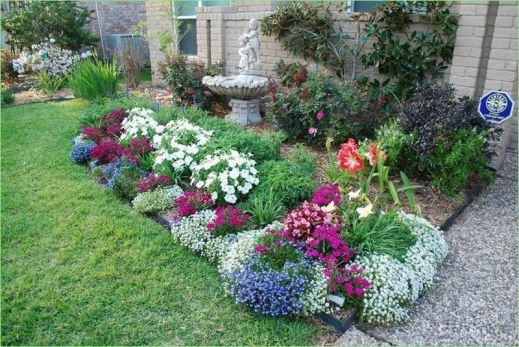 Charming flower beds ideas for shady yards 21