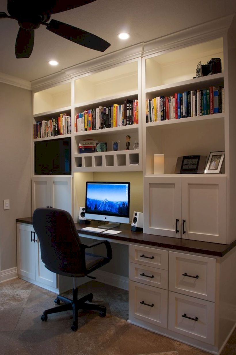 Classy home office designs ideas 38