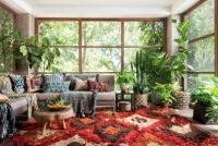 Cool living room designs ideas in boho style04