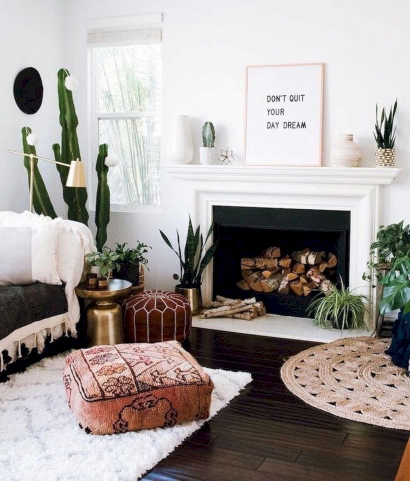 Cool living room designs ideas in boho style07