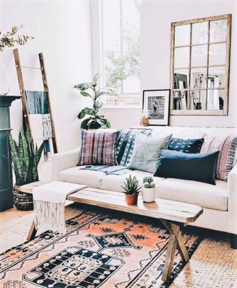 Cool living room designs ideas in boho style11