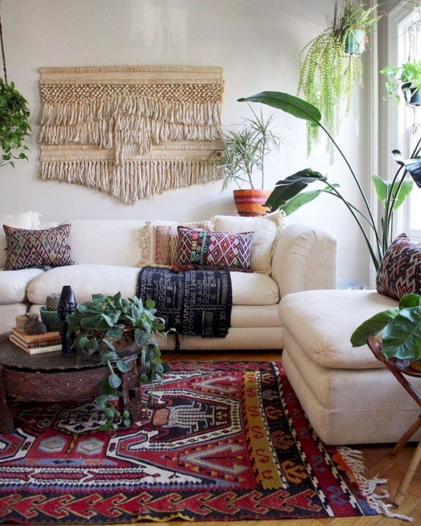 Cool living room designs ideas in boho style14