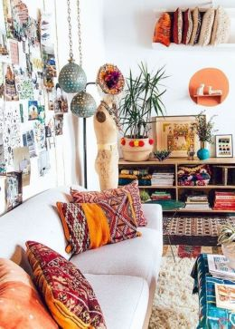 Cool living room designs ideas in boho style21