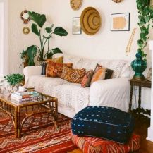 Cool living room designs ideas in boho style22