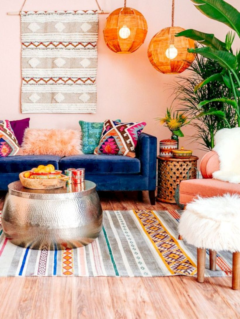 Cool living room designs ideas in boho style29
