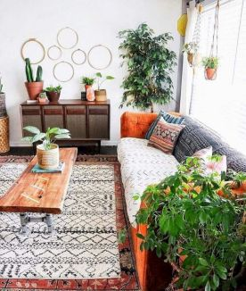 Cool living room designs ideas in boho style37