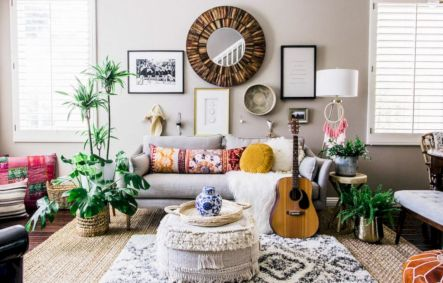 Cool living room designs ideas in boho style40