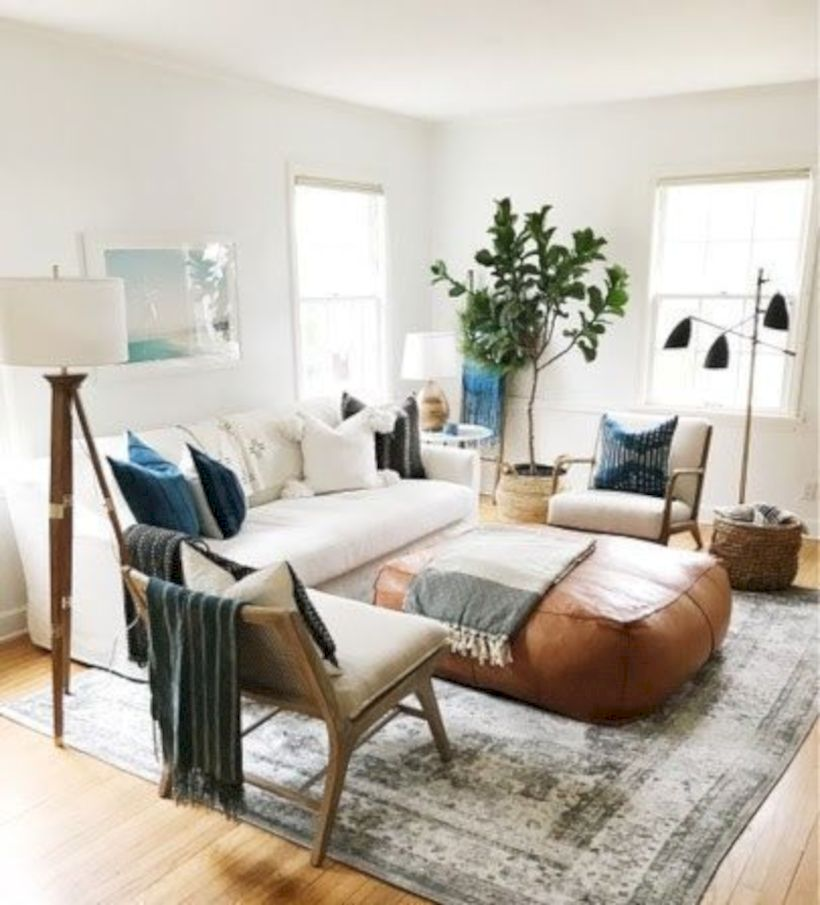 Cool living room designs ideas in boho style44