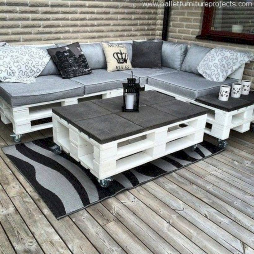 Graceful pallet furniture ideas 10