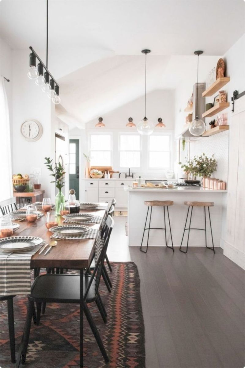 Lovely dining room tiles design ideas 16