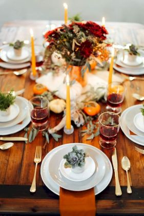Modern diy thanksgiving decorations ideas for home 35