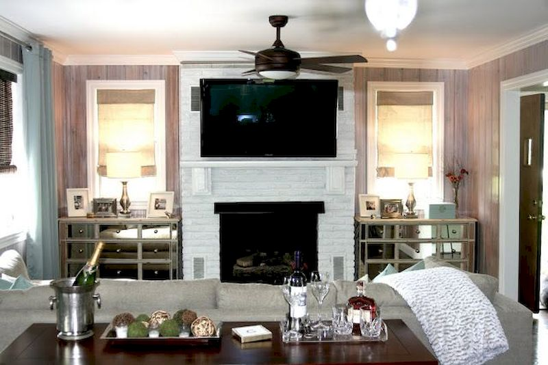 Attractive painted brick fireplaces ideas 11