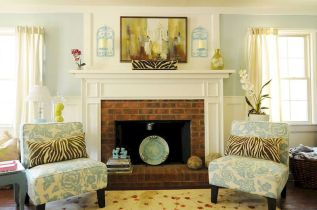 Attractive painted brick fireplaces ideas 12
