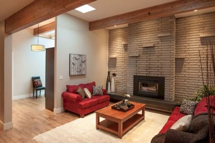 Attractive painted brick fireplaces ideas 14