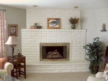 Attractive painted brick fireplaces ideas 22
