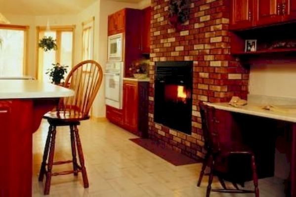 Attractive painted brick fireplaces ideas 28