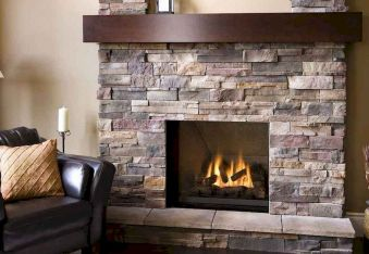 Attractive painted brick fireplaces ideas 34
