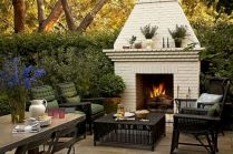 Attractive painted brick fireplaces ideas 40
