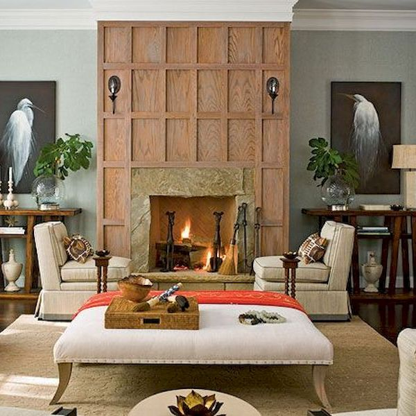 46 Attractive Painted Brick Fireplaces Ideas
