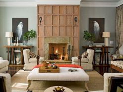 Attractive painted brick fireplaces ideas 45