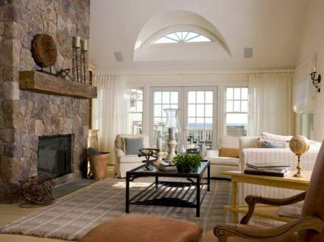 Attractive painted brick fireplaces ideas 47