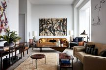 Awesome living room paint ideas by brown furniture 01