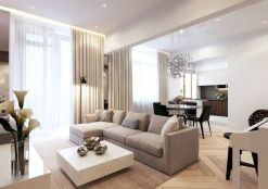 Awesome living room paint ideas by brown furniture 02