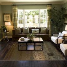 Awesome living room paint ideas by brown furniture 03