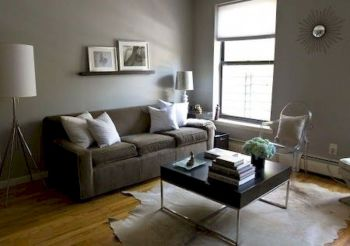 Awesome living room paint ideas by brown furniture 17