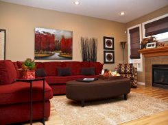 Awesome living room paint ideas by brown furniture 21