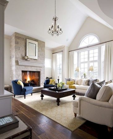 Awesome living room paint ideas by brown furniture 34
