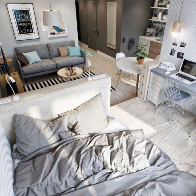 Cool diy beautiful apartments design ideas 14