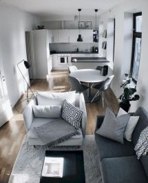 Cool diy beautiful apartments design ideas 28