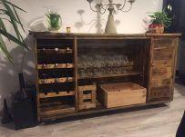Elegant wine rack design ideas using wood 11