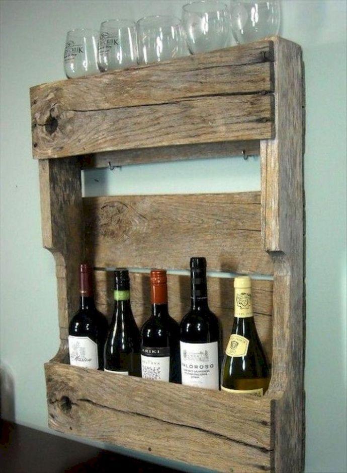 Elegant wine rack design ideas using wood 15