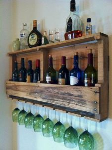 Elegant wine rack design ideas using wood 23