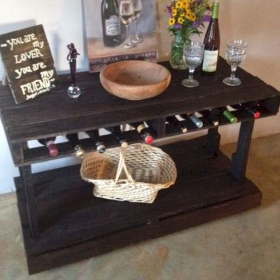 Elegant wine rack design ideas using wood 34