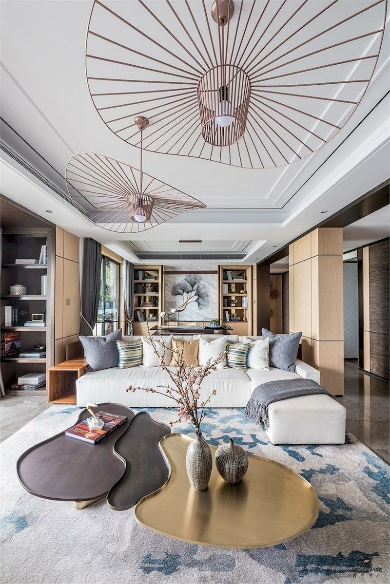 Impressive chinese living room decor ideas 05