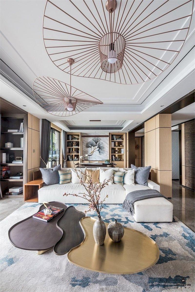 Impressive chinese living room decor ideas 05